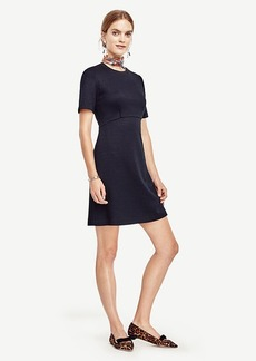 Petite Textured Fit and Flare Dress
