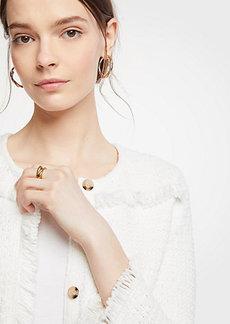 Ann Taylor Petite Textured Fringe Sweater Jacket