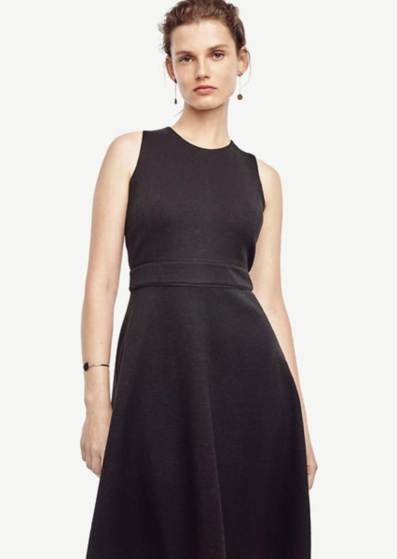 Ann Taylor Petite Textured Knit Flare Dress