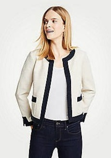 Ann Taylor Petite Textured Open Jacket