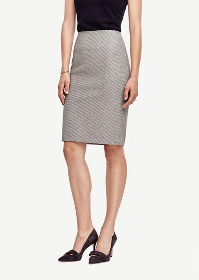 Ann Taylor Petite Textured Pencil Skirt
