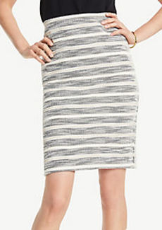 Ann Taylor Petite Textured Stripe Pencil Skirt