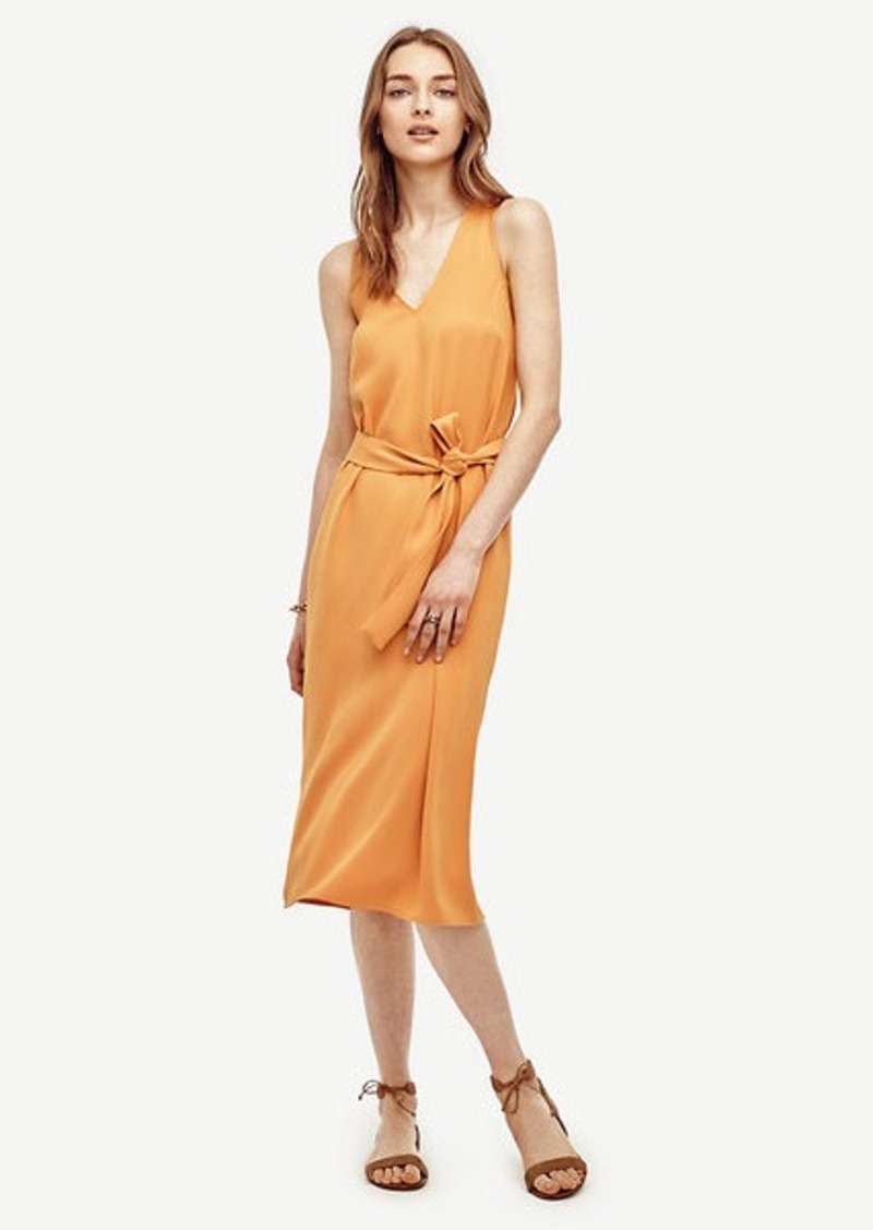 Ann Taylor Petite Tie Front Trapeze Dress