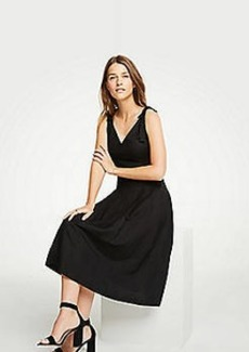 Ann Taylor Petite Tie Shoulder Midi Dress