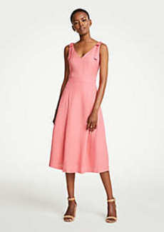 Ann Taylor Petite Tie Shoulder Midi Dress