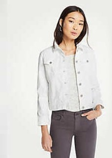 Ann Taylor Petite Tie Sleeve Denim Jacket