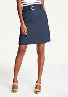 Ann Taylor Petite Tie Waist A-Line Skirt