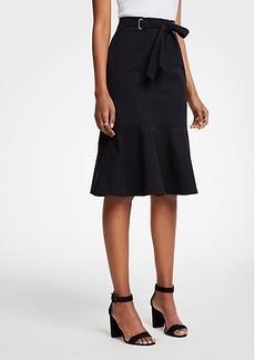 Ann Taylor Petite Tie Waist Flounce Skirt