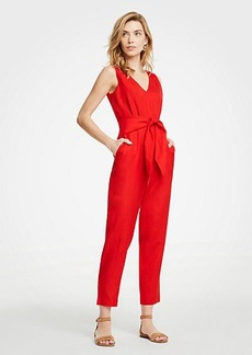 Ann Taylor Petite Tie Waist Jumpsuit