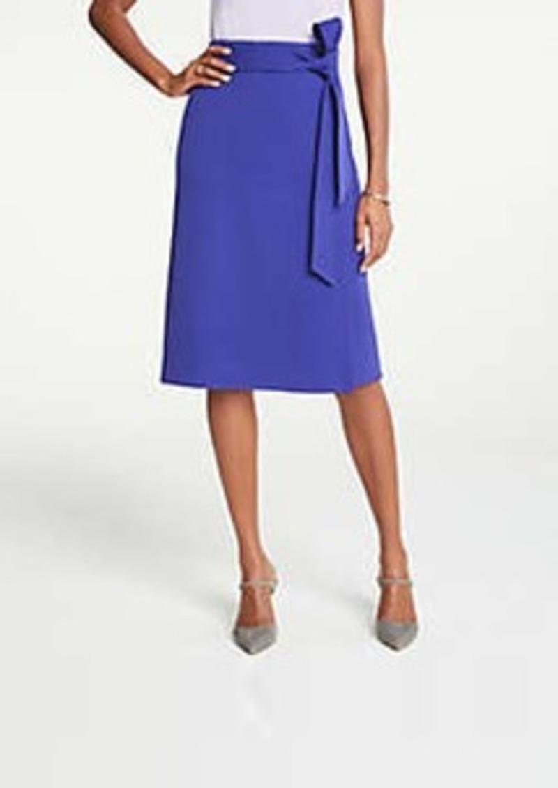 Ann Taylor Petite Tie Waist Wrap Skirt