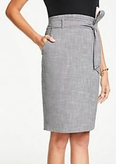 Ann Taylor Petite Tie Waist Pencil Skirt