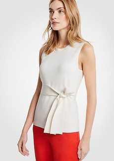 Ann Taylor Petite Tie Waist Sleeveless Sweater