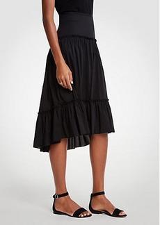 Ann Taylor Petite Tiered Ruffle Skirt