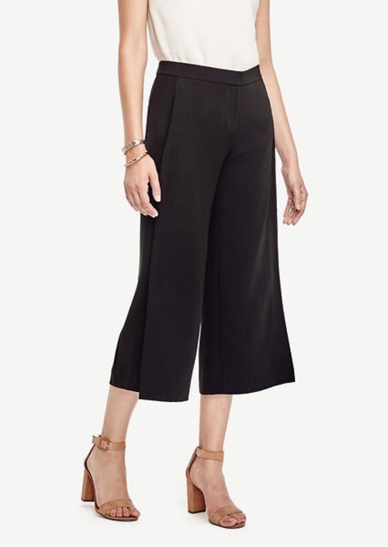 Ann Taylor Petite Triacetate Wide Leg Crop Pants