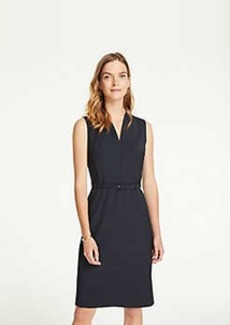 Ann Taylor Petite Tropical Wool Belted Sheath Dress