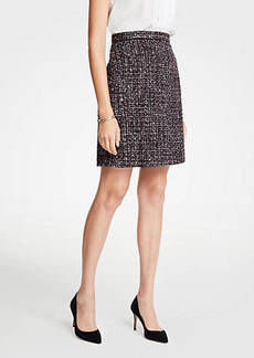 Ann Taylor Petite Tweed A-Line Skirt