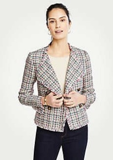 Ann Taylor Petite Tweed Cascade Jacket