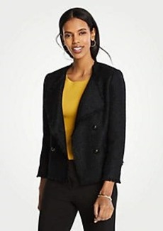 Ann Taylor Petite Tweed Cascade Jacket