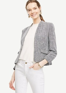 Ann Taylor Petite Tweed Collarless Jacket