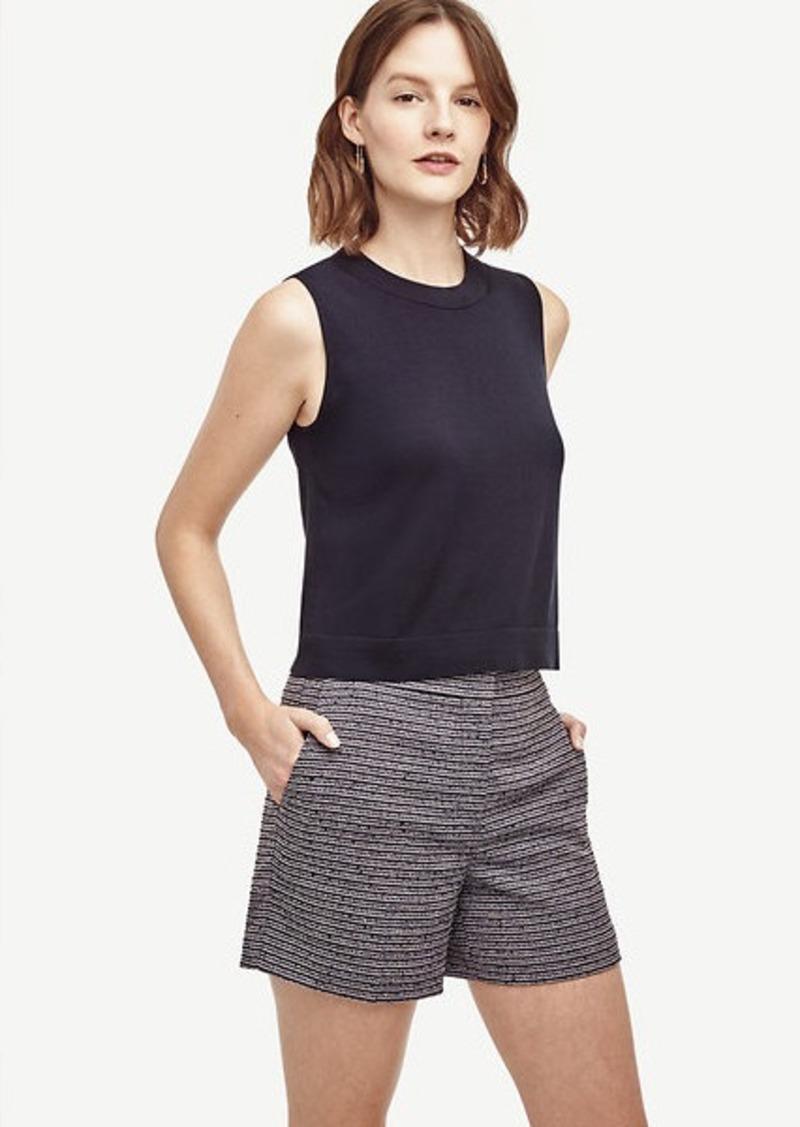 Ann Taylor Petite Tweed High Waist Shorts