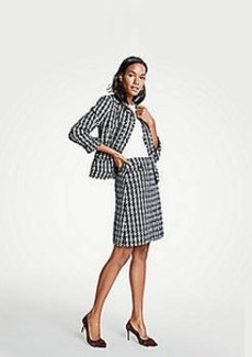 Ann Taylor Petite Tweed Houndstooth Jacket