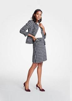 Ann Taylor Petite Tweed Houndstooth Jacket