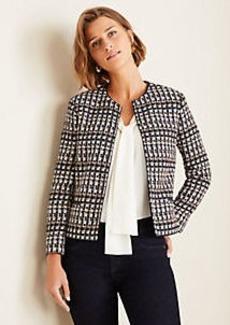 Ann Taylor Petite Tweed Jacket