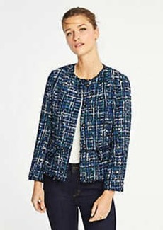 Ann Taylor Petite Tweed Military Jacket