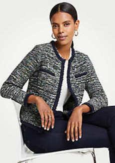 Ann Taylor Petite Tweed Pocket Jacket