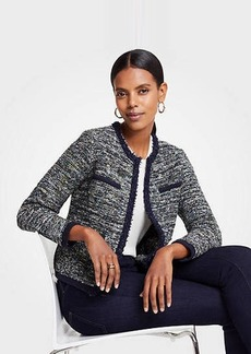 Ann Taylor Petite Tweed Pocket Jacket