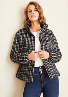 Ann Taylor Petite Tweed Puffer Jacket