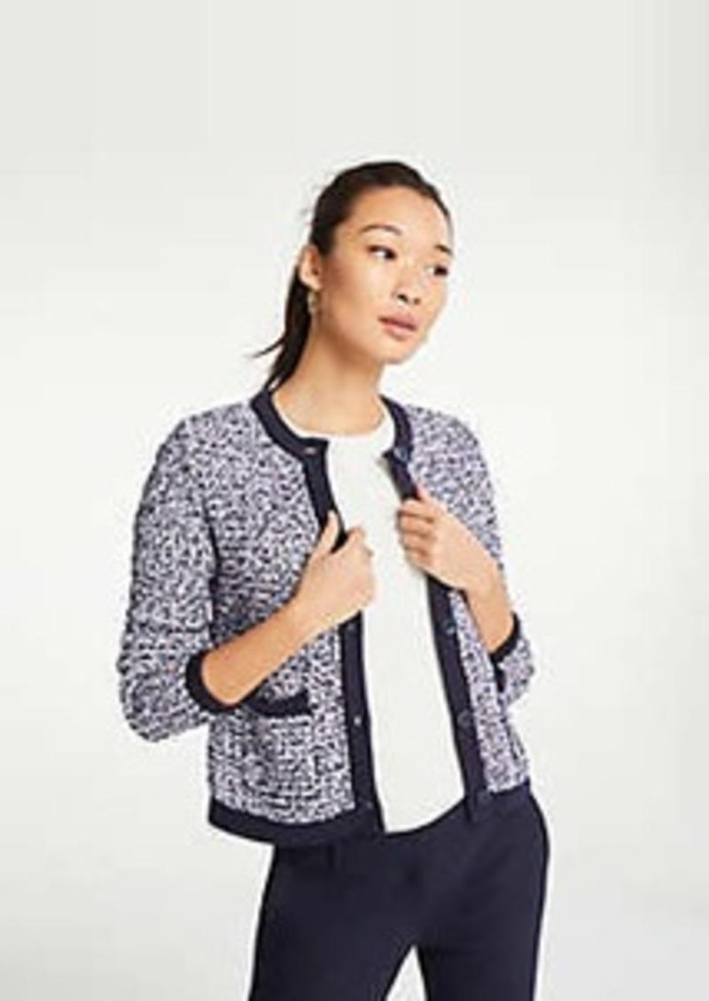 Ann Taylor Petite Tweed Sweater Jacket