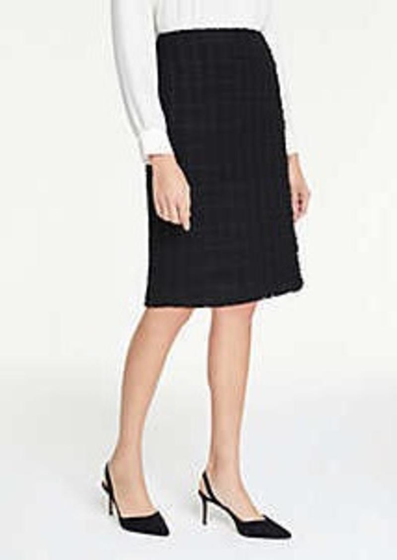 Ann Taylor Petite Tweed Faux Wrap Pencil Skirt