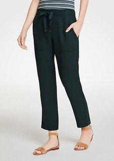 Ann Taylor Petite Twill Drapey Ankle Pants