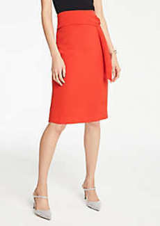 Ann Taylor Petite Twist Waist Pencil Skirt