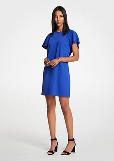 Ann Taylor Petite V-Back Flutter T-Shirt Dress