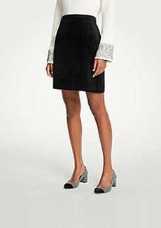 Ann Taylor Petite Velvet A-Line Skirt