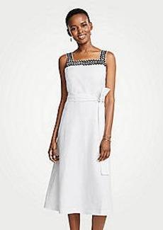 Ann Taylor Petite Wavy Trim Chambray Midi Dress