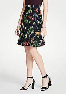 Ann Taylor Petite Wild Botanical Flare Skirt