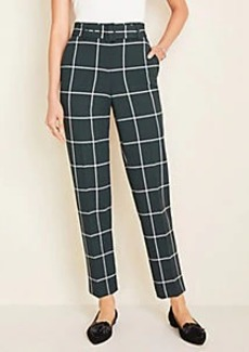 Ann Taylor Petite Windowpane Belted Pants