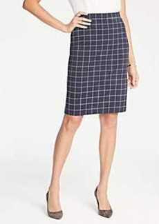 Ann Taylor Petite Windowpane Knit Pencil Skirt