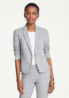 Ann Taylor Petite Windowpane One Button Blazer