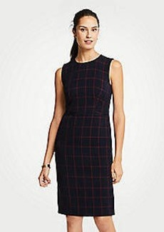 Ann Taylor Petite Windowpane Sheath Dress