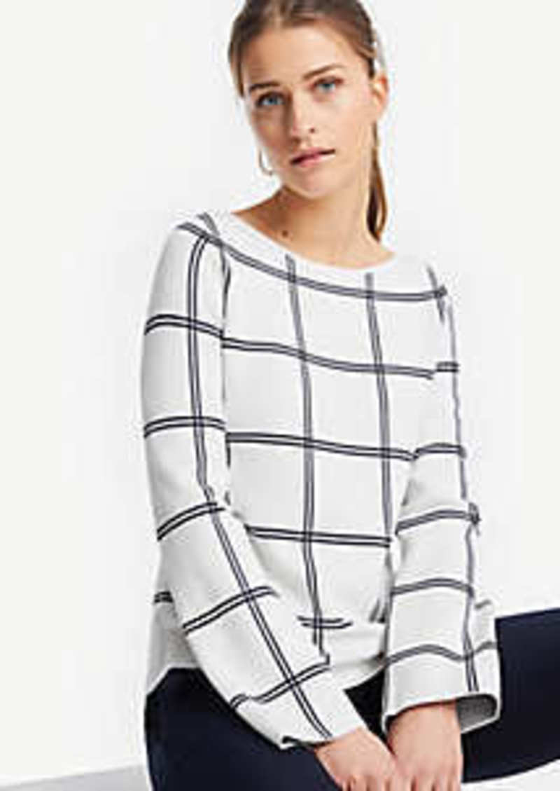 Ann Taylor Petite Windowpane Sweater