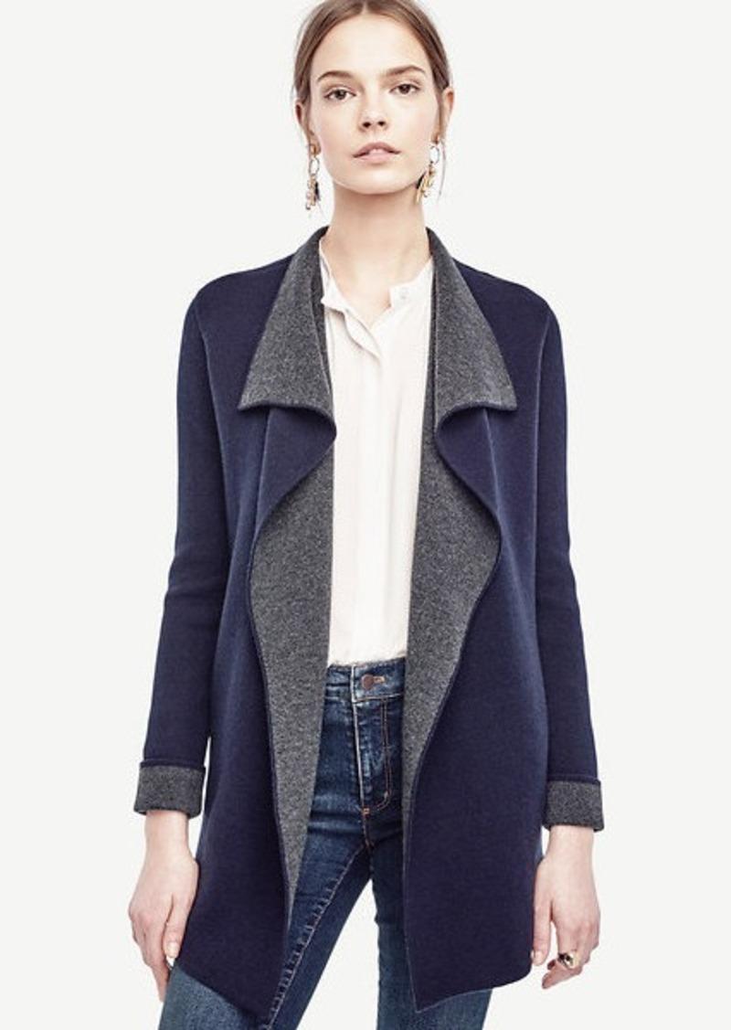 Ann Taylor Petite Wool Cashmere Sweater Jacket