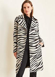 Ann Taylor Petite Zebra Print Trench Coat