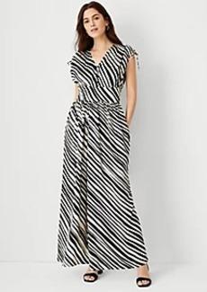 Ann Taylor Petite Zebra Stripe Jumpsuit