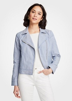 Ann Taylor Pettie Canvas Moto Jacket