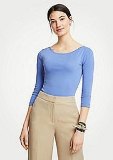 Ann Taylor Pima Cotton Boatneck Tee