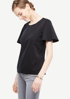Pima Cotton Flutter Tee